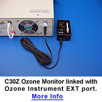 C30Z Ozone Monitor linked with Ozone Instrument